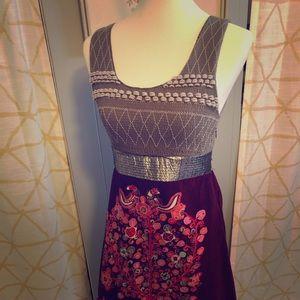 Vintage Free People Boho Velvet Dress